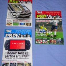 Videojuegos y Consolas: 3 REVISTAS PSP MANIA NUMEROS 1 - 2 - 3 - PSPMANIA. Lote 160821274