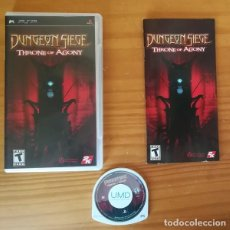 Videojuegos y Consolas: DUNGEON SIEGE, THRONE OF AGONY. JUEGO PSP SONY PLAYSTATION PORTABLE RPG. Lote 163546198