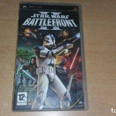 Videojuegos y Consolas: STAR WARS II BATTLEFRONT PSP PAL ESPAÑA COMPLETO. Lote 163963866