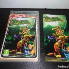 Videojuegos y Consolas: CARATULA E INSTRUCCIONES DAXTER PARA SONY PSP . Lote 165255282
