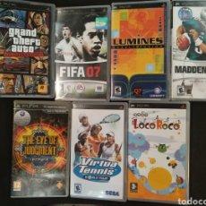 Videojuegos y Consolas: LOTE DE 7 JUEGOS PSP. Lote 166113696