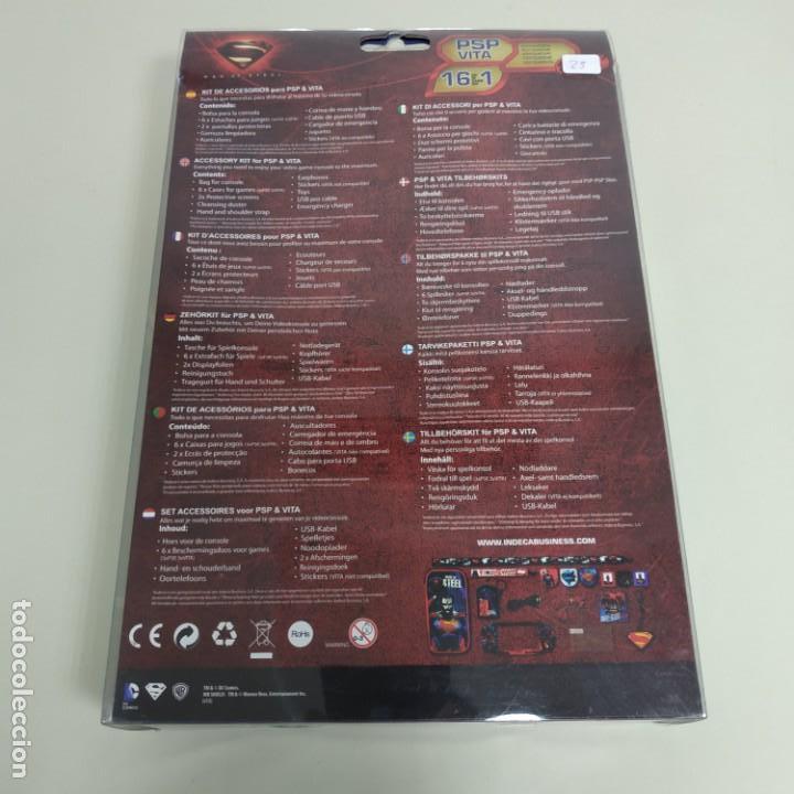 Videojuegos y Consolas: J6- KIT 16 EN 1 COMPATIBLE PSP & VITA SUPERMAN MAN OF STEEL DC COMICS NUEVO - Foto 2 - 168723504
