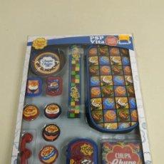Videojuegos y Consolas: J6- KIT 16 EN 1 COMPATIBLE PSP & VITA CHUPA CHUPS LICENCIA OFICIAL NUEVO N2. Lote 168724420