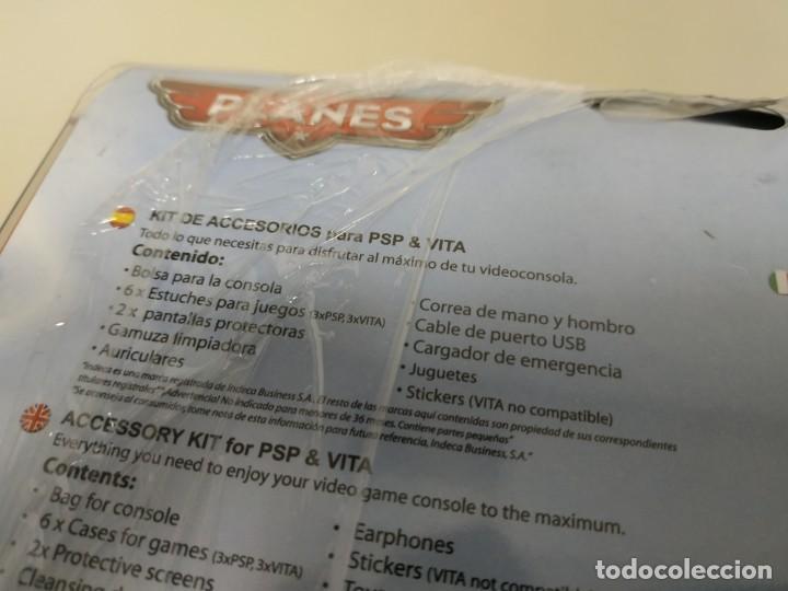 Videojuegos y Consolas: J6- KIT 16 EN 1 COMPATIBLE PSP & VITA DISNEY PLANES NUEVO - Foto 3 - 168725092