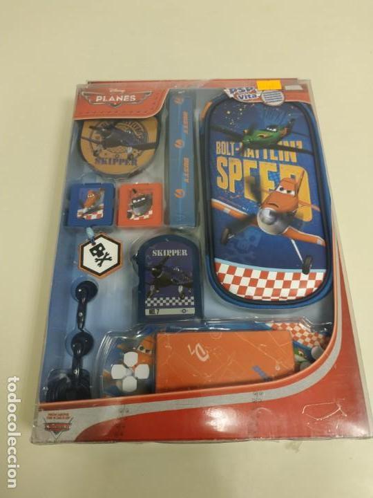J6- KIT 16 EN 1 COMPATIBLE PSP & VITA DISNEY PLANES NUEVO (Juguetes - Videojuegos y Consolas - Sony - Psp)