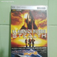 Videojuegos y Consolas: UMD VIDEO PSP - LA AMENAZA INVISIBLE STEALTH - +3 NIVELES DEL JUEGO WIPEOUT PURE . Lote 172582615