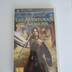 Videojuegos y Consolas: JUEGO SONY PSP PLAYSTATION PORTABLE. EL SEÑOR DE LOS ANILLOS. LAS AVENTURAS DE ARAGORN. COMPLETO. Lote 174446324