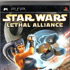 Videojuegos y Consolas: STAR WARS LETHAL ALLIANCE *** PSP 12 +. Lote 73278871