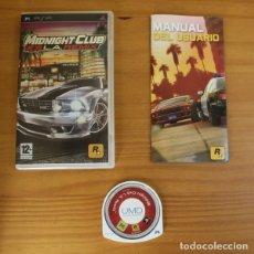 Videojuegos y Consolas: MIDNIGHT CLUB L.A. REMIX. JUEGO PSP SONY PLAYSTATION PORTABLE ROCKSTAR. Lote 176883547