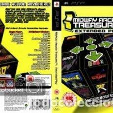 Videojuegos y Consolas: LOTE OFERTA JUEGO PSP MULTIJUEGOS ARCADE - MIDWAY ARCADE TREASURES - EXTENDED PLAY - CON SU MANUAL. Lote 180151371