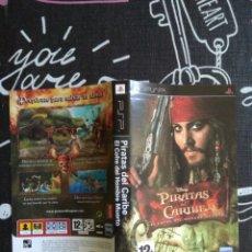 Videojuegos y Consolas: SOLO CARATULA PIRATAS DEL CARIBE EL COFRE DEL HOMBRE MUERTO. SONY PSP. Lote 180283626