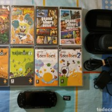 Videojuegos y Consolas: CONSOLA PSP + 8 JUEGOS + MEMORY STICK 4GB. Lote 180504987