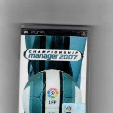 Videojuegos y Consolas: CHAMPIONSSHIP -MANAGER 2007 [PSP] TOTALMENTE EN CASTELLANO- SEGUNDA MANO NUEVO. Lote 49606967