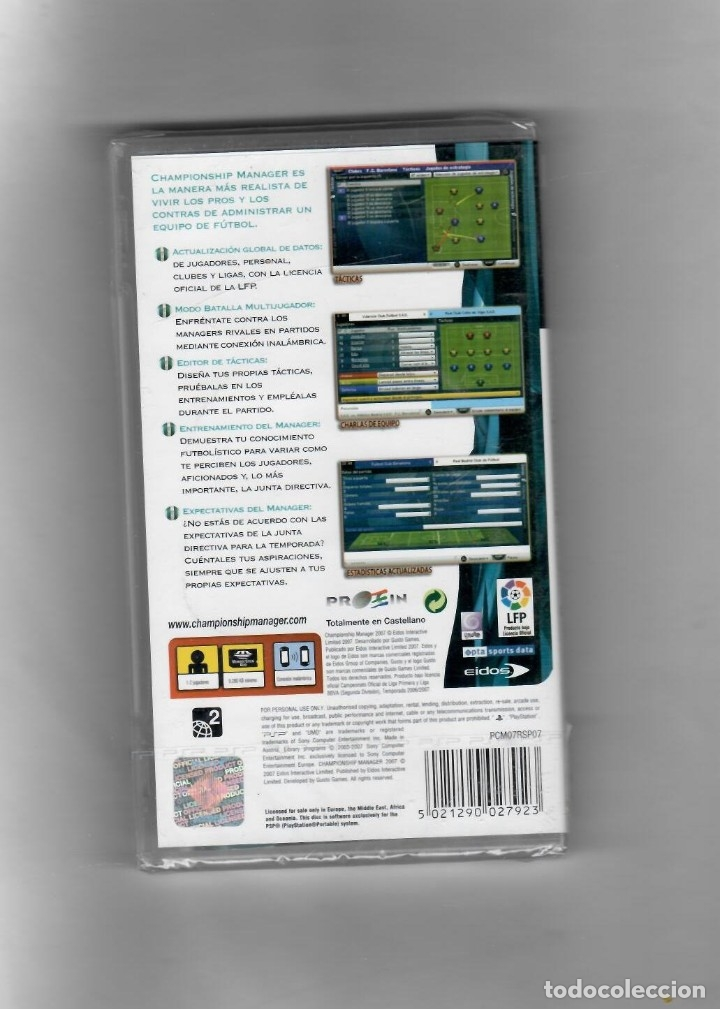 Videojuegos y Consolas: Championsship -manager 2007 [PSP] Totalmente en Castellano- segunda mano nuevo - Foto 2 - 49606967