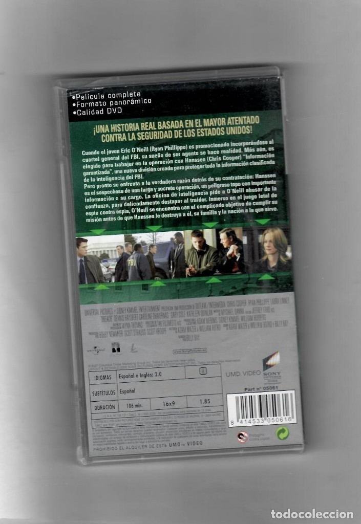 Videojuegos y Consolas: El espía [UMD VIDEO] PSP - Segunda mano buena - Foto 2 - 49610940