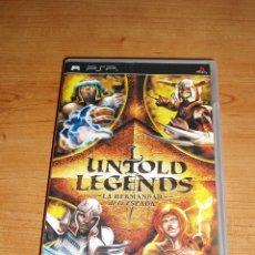 Jeux Vidéo et Consoles: UNTOLD LEGENDS LA HERMANDAD DE LA ESPADA SONY PSP - PAL ESPAÑA + MATERIAL EXTRA. Lote 32629831