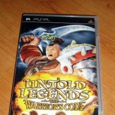 Jeux Vidéo et Consoles: UNTOLD LEGENDS THE WARRIOR'S CODE SONY PSP - PAL ESPAÑA + MATERIAL EXTRA. Lote 32629841