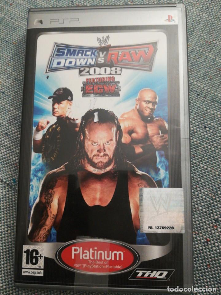JUEGO PARA PSP SMACK DOWN VS RAW 2008 (Juguetes - Videojuegos y Consolas - Sony - Psp)