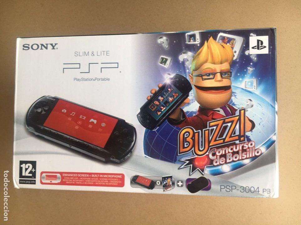 CAJA SONY PSP SLIM & LITE EDICIÓN BUZZ!! - PSP 3004 PIANO BLACK - NO INCLUYE CONSOLA SOLO CAJA (Juguetes - Videojuegos y Consolas - Sony - Psp)