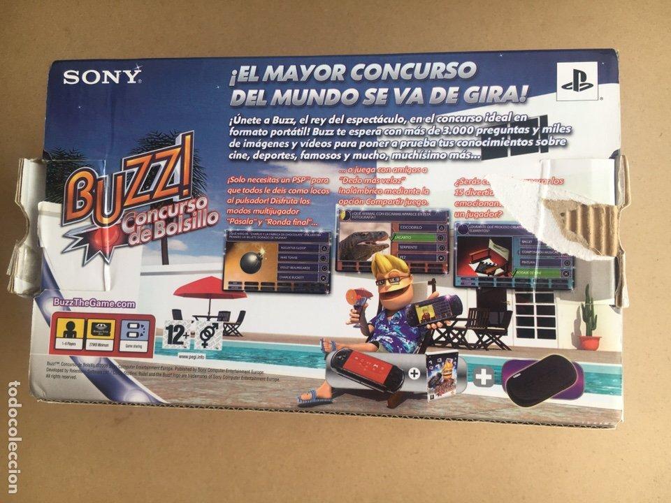 Videojuegos y Consolas: Caja SONY PSP SLIM & LITE Edición BUZZ!! - PSP 3004 Piano Black - No incluye consola solo Caja - Foto 4 - 184762190