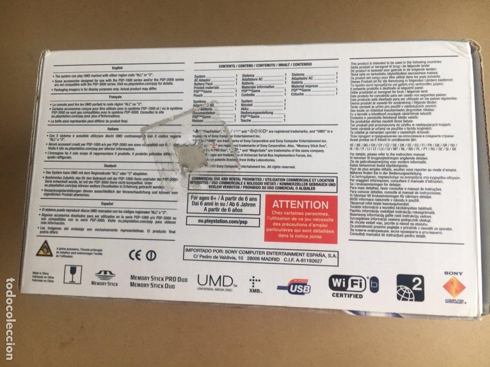 Videojuegos y Consolas: Caja SONY PSP SLIM & LITE Edición BUZZ!! - PSP 3004 Piano Black - No incluye consola solo Caja - Foto 5 - 184762190