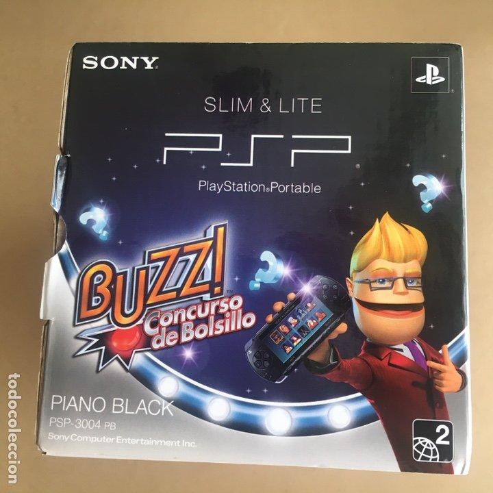 Videojuegos y Consolas: Caja SONY PSP SLIM & LITE Edición BUZZ!! - PSP 3004 Piano Black - No incluye consola solo Caja - Foto 7 - 184762190