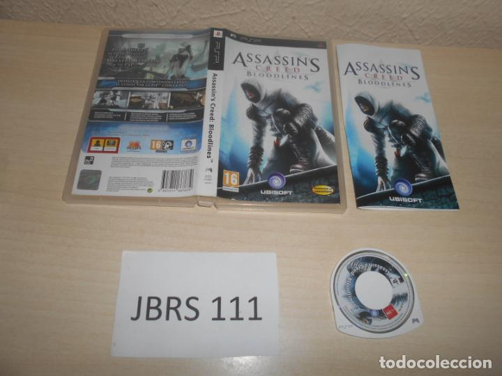 PSP - ASSASSINS CREED BLOODLINES , PAL ESPAÑOL , COMPLETO (Juguetes - Videojuegos y Consolas - Sony - Psp)