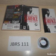 Videojuegos y Consolas: PSP - SCARFACE , PAL ESPAÑOL , COMPLETO. Lote 187432158