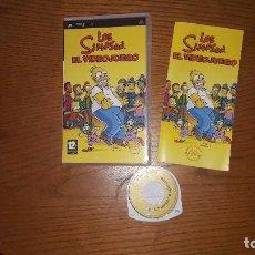 Videojuegos y Consolas: JUEGO PSP LOS SINPSON EL VIDEOJUEGO. Lote 192337041