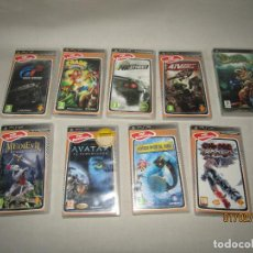 Videojuegos y Consolas: ANTIGUO LOTE 9 JUEGOS EN CAJA DE PSP PLAYSTATION SONY. Lote 192876625
