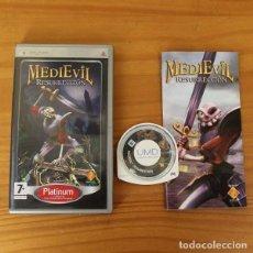 Videojuegos y Consolas: MEDIEVIL RESURRECCION -JUEGO PSP- CAMBRIDGE PLAYSTATION PORTABLE. Lote 194262701
