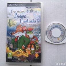 Videojuegos y Consolas: GERONIMO STILTON EN EL REINO DE LA FANTASIA EL VIDEOJUEGO PSP PLAYSTATION SONY KREATEN. Lote 194555877