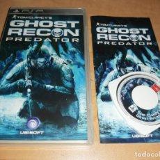 Videojuegos y Consolas: GHOST RECON PREDATOR JUEGO SONY PSP - MYTRAN WARS-RAINBOW SIX-SOUL CALIBUR (COMPRA MINIMA 15 EUR). Lote 196129637