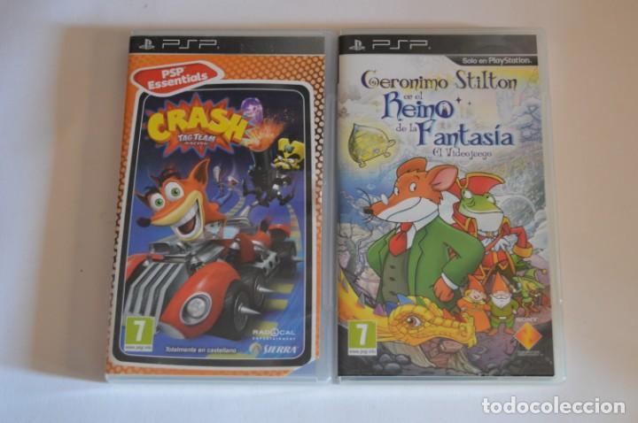 LOTE JUEGOS SONY PSP GERONIMO STILTON EN EL REINO DE LA FANTASÍA EL VIDEOJUEGO CRASH TAG TEAM RACING (Juguetes - Videojuegos y Consolas - Sony - Psp)
