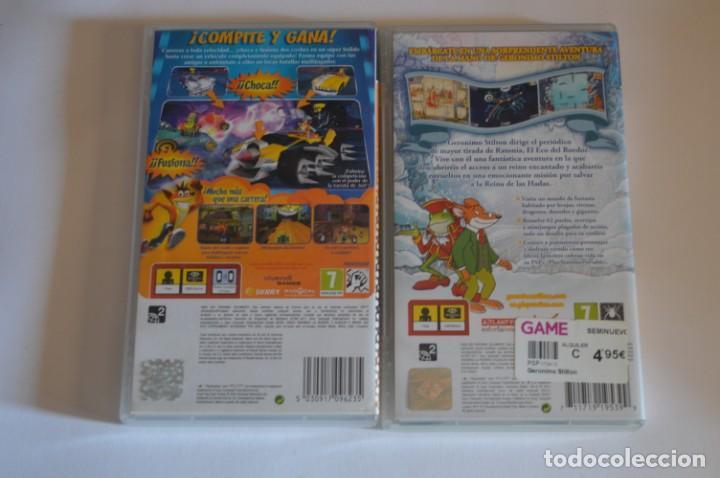 Videojuegos y Consolas: LOTE JUEGOS SONY PSP GERONIMO STILTON EN EL REINO DE LA FANTASÍA EL VIDEOJUEGO CRASH TAG TEAM RACING - Foto 2 - 196364901