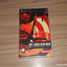 Videojuegos y Consolas: METAL GEAR SOLID PORTABLE OPS COMPLETO SONY PSP PAL ESPAÑA COMO NUEVO. Lote 197776076