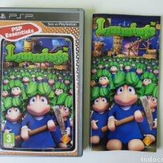 Videojuegos y Consolas: CAJA Y MANUAL LEMMINGS SONY PSP. Lote 243923400