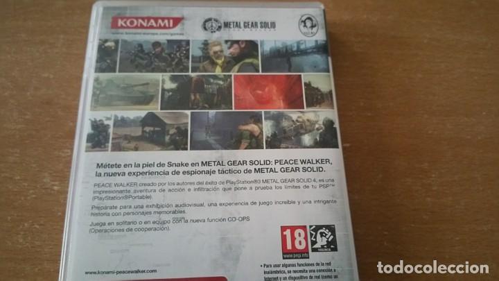 Videojuegos y Consolas: METAL GEAR PEACE WALKER PSP PAL ESPAÑA COMPLETO - Foto 3 - 199444338