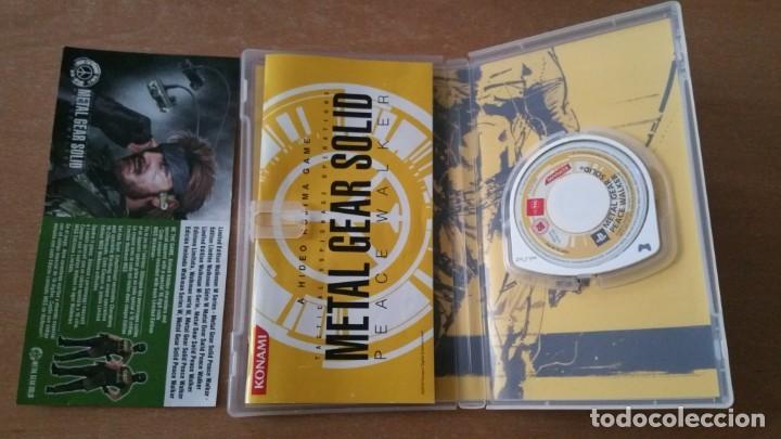 Videojuegos y Consolas: METAL GEAR PEACE WALKER PSP PAL ESPAÑA COMPLETO - Foto 4 - 199444338