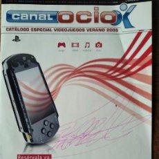 Videojuegos y Consolas: CATOLOGO DE JUEGOS CANALOCIO VERANO 2005- LANZAMIENTO PSP, JUEGOS PS2, GAME BOY ADVANCE, XBOX. Lote 199498672
