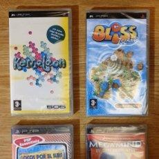 Videojuegos y Consolas: LOTE 4 JUEGOS PSP. KAMELEON. BLISS ISLAND. MEGAMIND. LOCOS POR EL SURF. NUEVOS. Lote 200025056