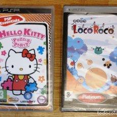 Videojuegos y Consolas: LOTE 2 JUEGOS SONY PSP. LOCOROCO + HELLO KITTY PUZZLE PARTY. NUEVOS PRECINTADOS . Lote 200025392