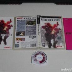 Videojuegos y Consolas: PLAY STATION PSP - METAL GEAR ACID ED. ESPAÑOL AC!D CON LIBRETO CARTAS LIMITADA. Lote 200123038