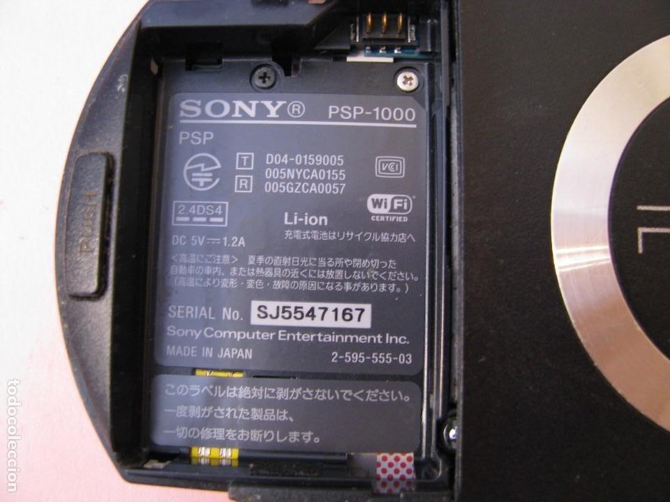Videojuegos y Consolas: CONSOLA PSP 1000. AÑO 2004. FUNCIONA. INCLUYE CARGADOR Y FUNDA. - Foto 3 - 203459812