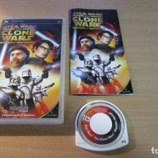 Videojuegos y Consolas: JUEGO PSP STAR WARS THE CLONE WARS MUY BUEN ESTADO COMPLETO. Lote 204533396