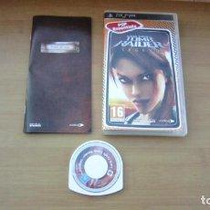 Videojuegos y Consolas: JUEGO PSP TOM RAIDER MUY BUEN ESTADO COMPLETO. Lote 204640235