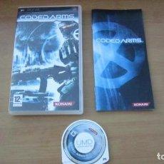 Videojuegos y Consolas: JUEGO PSP CODED ARMS BUEN ESTADO COMPLETO. Lote 204643028