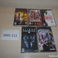Videojuegos y Consolas: PSP - PACK DE 5 JUEGOS VARIADOS , PAL ESPAÑOLES. Lote 205697315