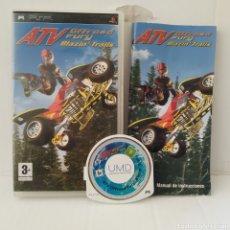 Videojuegos y Consolas: JUEGO PSP - ATV OFFROAD FURY BLAZIN TRAINS. Lote 205827706