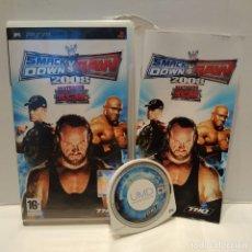 Videojuegos y Consolas: JUEGO PSP - SMACK DOWN VS RAW 2008. Lote 206425335